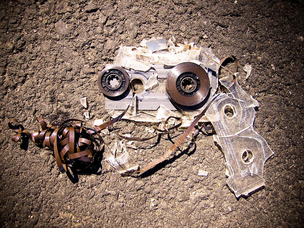 broken cassette tape
